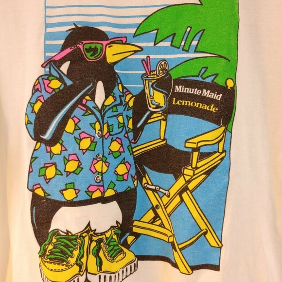Vintage Other - VTG Minute Maid Lemonade Logo T Shirt Promotional